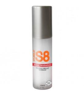 S8 LUBRICANTE ANAL BASE DE AGUA EFECTO CALOR 125ML