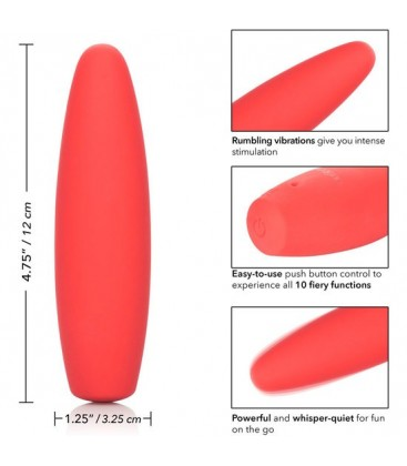 RED HOT FLAME VIBRADOR SILICONA ROJO