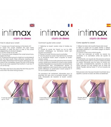 INTIMAX CORSET EROTIC LOVE NEGRO