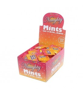 NAUGHTY MINTS DISPLAY CARAMELOS MENTA