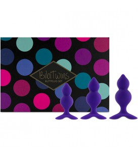 FEELZTOYS BIBI TWIN SET DE 3 PLUGS ANALES MORADO