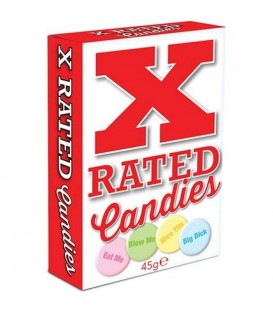 X RATED CANDIES CARAMELOS CON MENSAJES