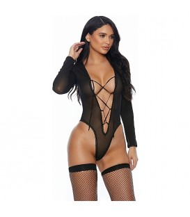 SHEER DATES TEDDY BODY NEGRO