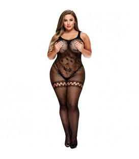 CROTCHLESS BODYSTOCKING MALLA FLORAL