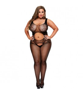 OPEN FRONT CROTCHLESS BODYSTOCKING