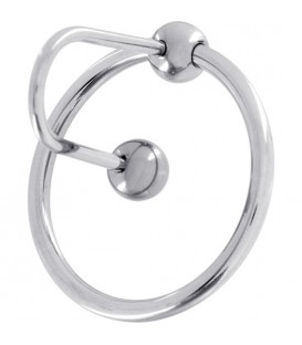 ANILLO SPERMSTOPPER ACERO 30 MM PLATA