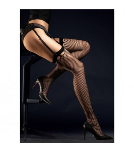 BURLESQUE STOCKINGS MEDIAS REJILLA 30 DEN NEGRO