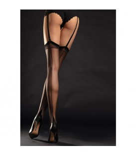 DIVA STOCKINGS MEDIA TACON FRANCES 20 DEN NEGRO