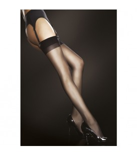 JUSTINE STOCKINGS MEDIA CON PUNTERA REFORZADA 20 DEN NEGRO
