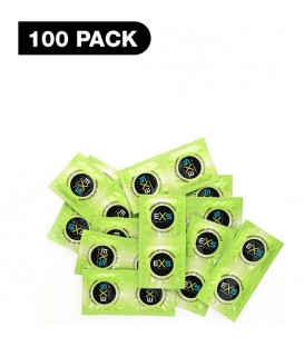 PRESERVATIVOS EXS RIBBED DOTTED FLARED 100 PACK