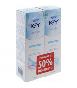 K Y GEL LUBRICANTE HIDROSOLUBLE INTIMO DUPLO 2X75ML