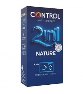 CONTROL PRESERVATIVOS NATURE CON LUBRICANTE 6UDS