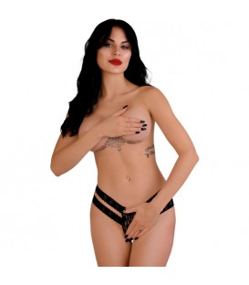 DARING LUCY CROTCHLESS THONG PANTY NEGRO