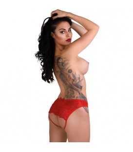 DARING NICOLETTE CROTCHLESS PANTY ROJO