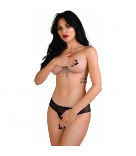 DARING ROXANNE CROTCHLESS STRING NEGRO
