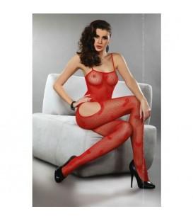 ORIGINAL BODY SEXY STOCKING DE RED CON CORAZONES NEGRO