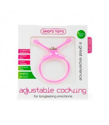 erection booster anillo ajustable pene rosa