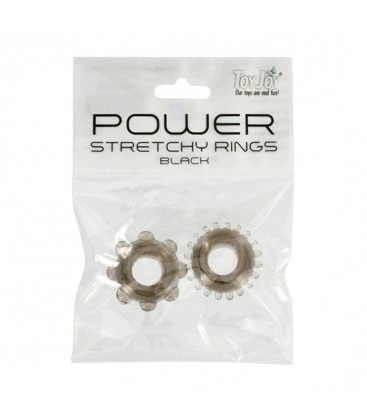 POWER STRETCHY ANILLO NEGRO 2PCS