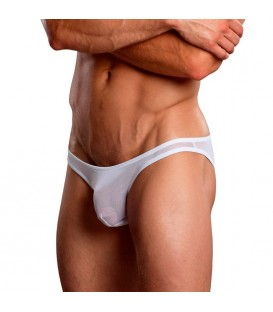 MALE POWER BIKINI BLANCO TRANSPARENCIAS
