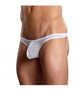 MALE POWER TANGA SEMITRASPARENTE BLANCO