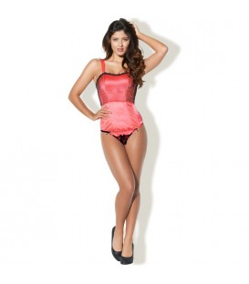 KISS ME BUSTIER CORSE NEON CORAL