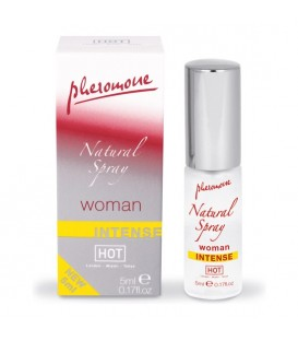 HOT SPRAY NEUTRO DE FEROMONAS NATURAL  INTENSO PARA MUJERES 5 ML