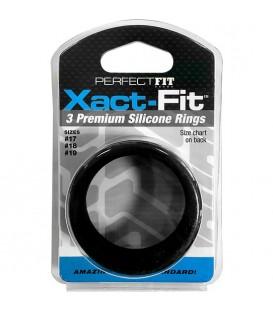 XACT FIT KIT 3 ANILLOS DE SILICONA 4 CM 45 CM Y 5 CM