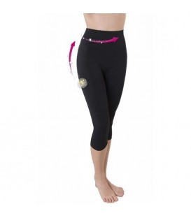PANTALoN PIRATA PUSH UP FIBRA EMANA CON TRIPLE ACCIoN ADELGAZA EN 30 DiAS NEGRO