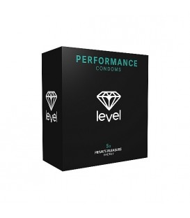 PRESERVATIVOS LEVEL PERFORMANCE CONDOMS - 5UDS