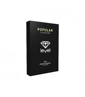 PRESERVATIVOS LEVEL POPULAR CONDOMS 24UDS