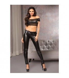 FAUX LEATHER SKINNY LEG