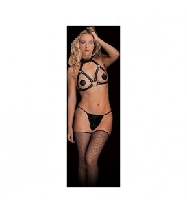 CHARA BEAUTIFUL BREAST HARNESS NEGRO