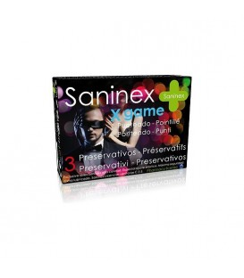 SANINEX PRESERVATIVOS X GAME PUNTEADO 3UDS