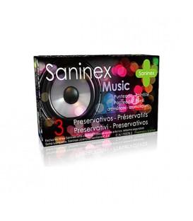 SANINEX PRESERVATIVOS MUSIC PUNTEADO 3UDS