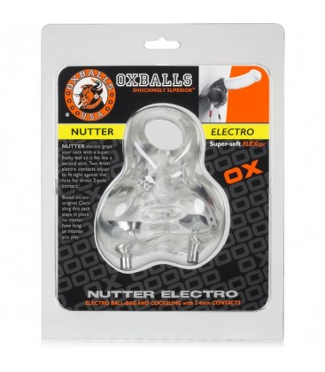 OXBALLS NUTTER ELECTRO BALL SLING TRANSPARENTE